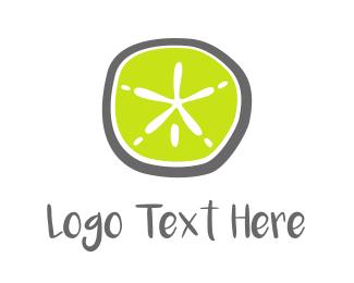 Shell - Green Starfish logo design
