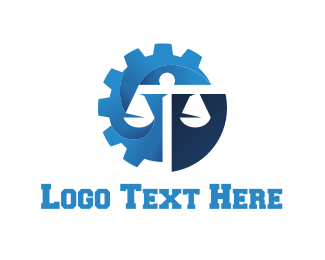 Judge - Law Gear logo design