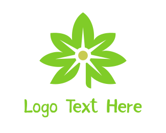 Drugs - Green Cannabis Light  logo design