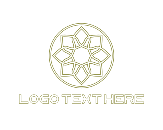 Morocco - Circle Flower logo design