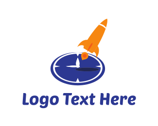 Hour - Rocket Clock logo design