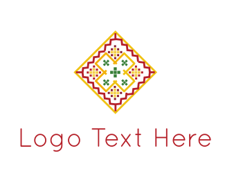 Tribal - Pink & Orange Tile logo design