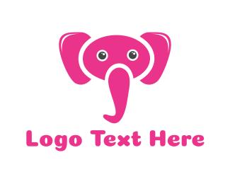 Pink - Pink Elephant logo design