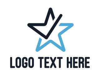 Verification - Star Check logo design