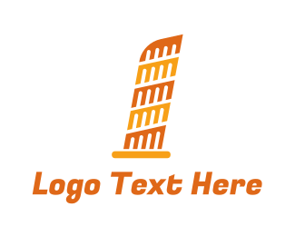 Tourism - Orange Leaning Tower of Pisa  logo design