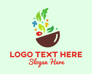 Mushroom - Vegetable Bowl logo design