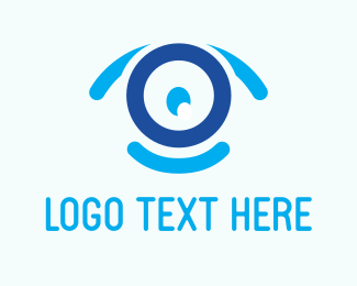 Security - Blue Webcam logo design