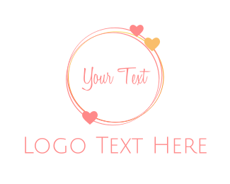 Lovely - Love  Circle logo design
