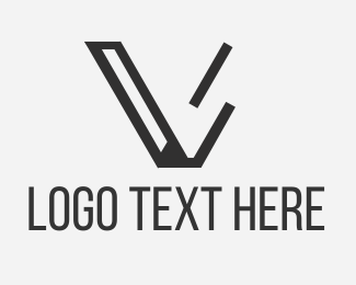 Letter V - Black Letter V logo design