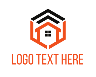 Wireless - House Signal logo design