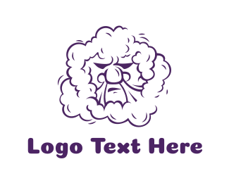 Hype - Purple Smoking Angry Man logo design