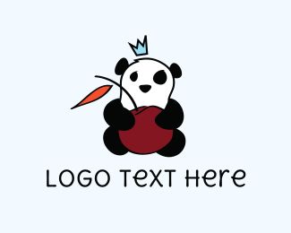 Chinese - Cherry & Panda logo design