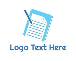 Write - Essay Pad logo design