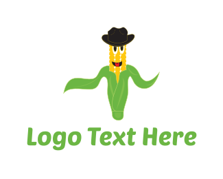 Green And Yellow - Mister Corn logo design