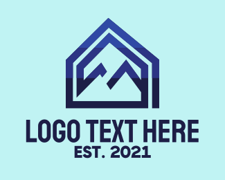 House - Blue Mountain House logo design