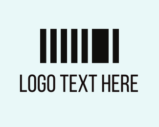 Stripes - Black Barcode logo design