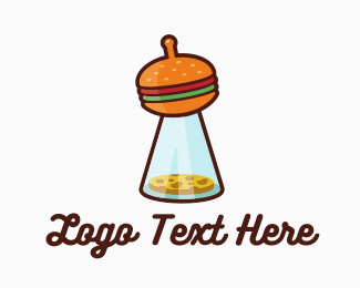 Food Truck - UFO Cheeseburgers logo design