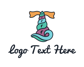 Lighthouse - Shell Lighthouse logo design
