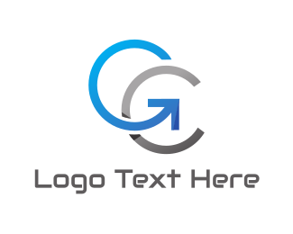 Import - Metallic G & C logo design