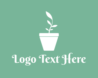 Silent - Plant Vase logo design
