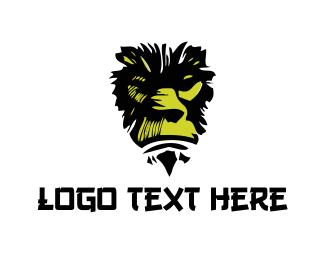 Ape - Green Gorilla logo design