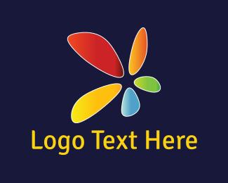 Bright - Colorful Flower logo design