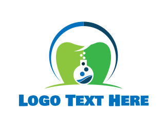 Test Tube - Dental Lab logo design