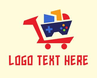 Cart - Geometric Cart Gaming logo design