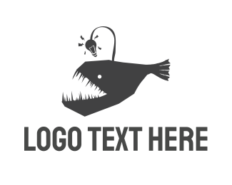 Venture Capital - Anglerfish Fish logo design