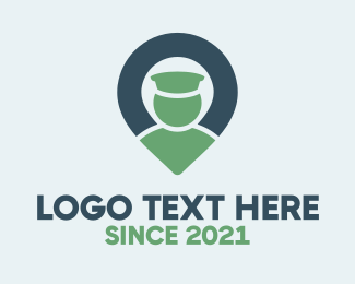 Location - Blue & Green Locator logo design
