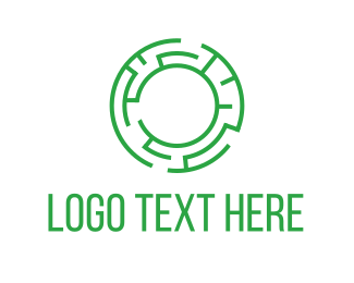 Find - Green labyrinth logo design