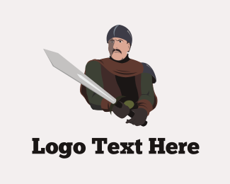 Warrior - Medieval Warrior logo design