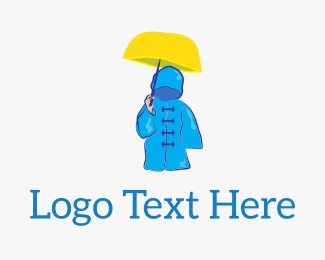 Winter - Rain Coat Umbrella logo design