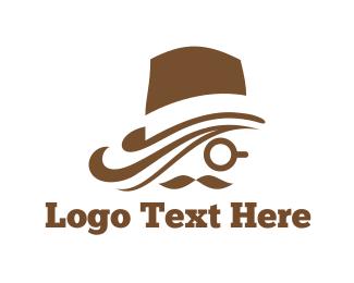 Monocle - Brown Hat logo design