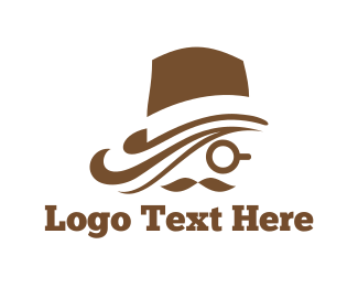 Gentleman - Brown Hat logo design