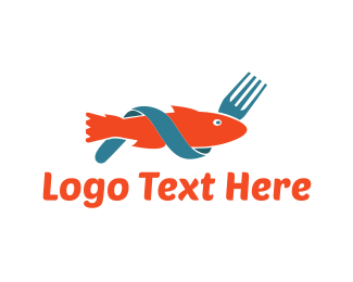 Fork - Fish & Fork logo design