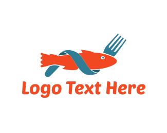 Cook - Fish & Fork logo design