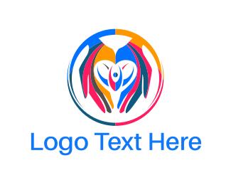 Help - Colorful Hands logo design