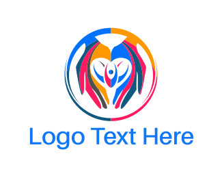 Hand - Colorful Hands logo design