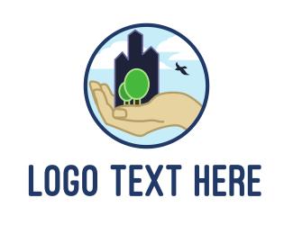 Skyscraper - Eco City logo design