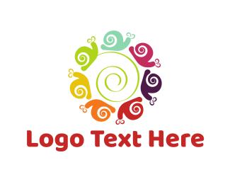 Kindergarten - Snail Circle logo design