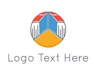 Pedagogy - Book Town logo design