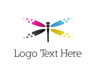 Print - Ink Dragonfly logo design