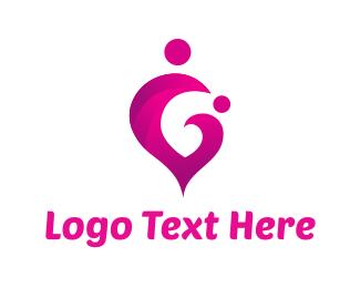 Mom - Mother Heart logo design