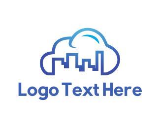 Insurance Broker - Blue City Cloud logo design