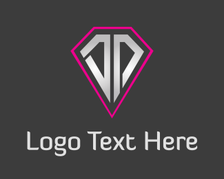Emerald - Silver & Pink Diamond  logo design