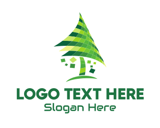 Tree - Digital Tree  logo design