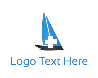 Rescue - Medical Boat logo design