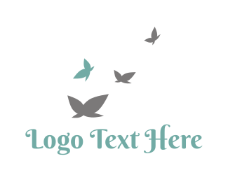 Hospice - Cute Butterflies logo design
