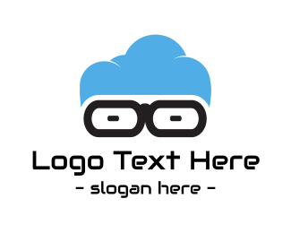 Cloud Computing - Geek Cloud logo design